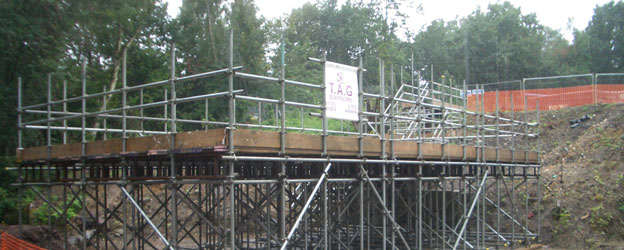 Bespoke Scaffolding solutions by TAG